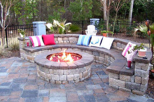 Mason Fire Pit and Seating